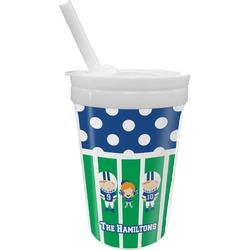 Football Sippy Cup with Straw (Personalized)