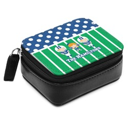 Football Small Leatherette Travel Pill Case (Personalized)