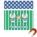 Football Square Car Magnet (Personalized)