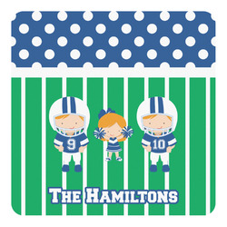 Football Square Decal - Custom Size (Personalized)