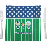 Football Square Dinner Plate (Personalized)