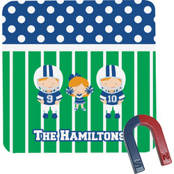 Football Square Fridge Magnet (Personalized)