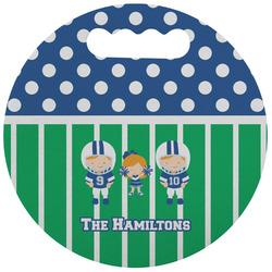 Football Stadium Cushion (Round) (Personalized)