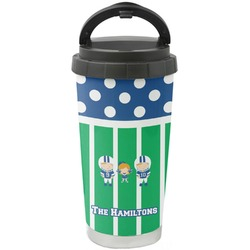 Football Stainless Steel Travel Mug (Personalized)