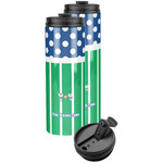 Football Stainless Steel Skinny Tumbler (Personalized)
