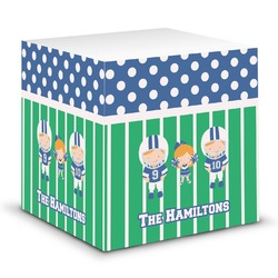 Football Sticky Note Cube (Personalized)