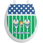 Football Toilet Seat Decal (Personalized)