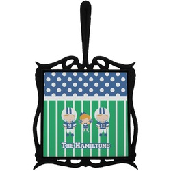 Football Trivet with Handle (Personalized)