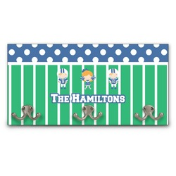 Football Wall Mounted Coat Rack (Personalized)