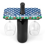 Football Wine Bottle & Glass Holder (Personalized)