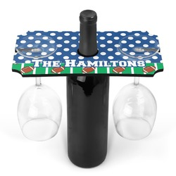Football Wine Bottle & Glass Holder (Personalized)