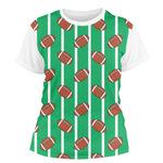 Football Women's Crew T-Shirt (Personalized)