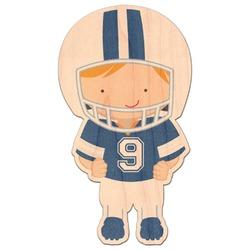Football Genuine Wood Sticker (Personalized)