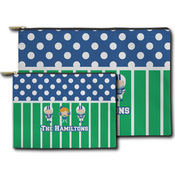 Football Zipper Pouch (Personalized)