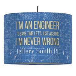 Engineer Quotes Drum Pendant Lamp (Personalized)