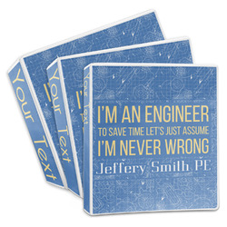 Engineer Quotes 3-Ring Binder (Personalized)