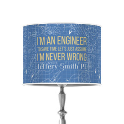 """Engineer Quotes 8"""" Drum Lamp Shade - Poly-film (Personalized)"""