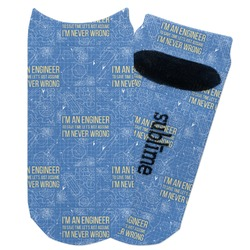 Engineer Quotes Adult Ankle Socks (Personalized)