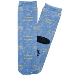 Engineer Quotes Adult Crew Socks (Personalized)
