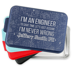 Engineer Quotes Aluminum Baking Pan with Lid (Personalized)