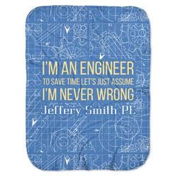 Engineer Quotes Baby Swaddling Blanket (Personalized)