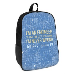 Engineer Quotes Kids Backpack (Personalized)