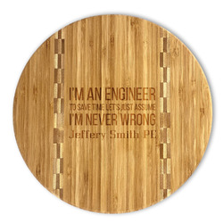 Engineer Quotes Bamboo Cutting Board (Personalized)