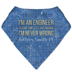 Engineer Quotes Bandana Bib (Personalized)