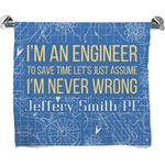 Engineer Quotes Full Print Bath Towel (Personalized)