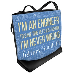 Engineer Quotes Beach Tote Bag (Personalized)