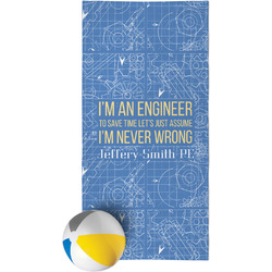 Engineer Quotes Beach Towel (Personalized)