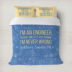 Engineer Quotes Duvet Cover (Personalized)