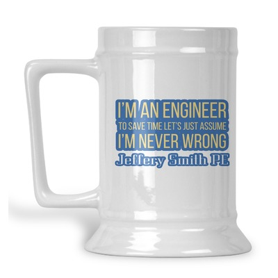 Engineer Quotes Beer Stein (Personalized)