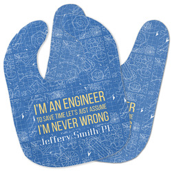 Engineer Quotes Baby Bib w/ Name or Text