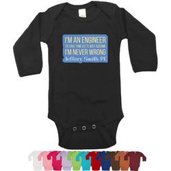 Engineer Quotes Bodysuit - Long Sleeves - 0-3 months (Personalized)