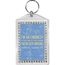 Engineer Quotes Bling Keychain (Personalized)