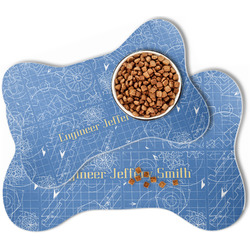 Engineer Quotes Bone Shaped Dog Food Mat (Personalized)