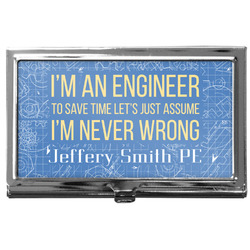Engineer Quotes Business Card Case