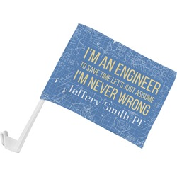 Engineer Quotes Car Flag (Personalized)