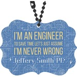 Engineer Quotes Rear View Mirror Decor (Personalized)