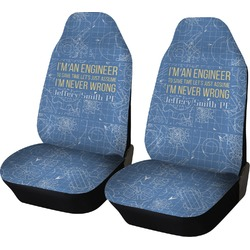 Engineer Quotes Car Seat Covers (Set of Two) (Personalized)