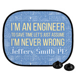 Engineer Quotes Car Side Window Sun Shade (Personalized)