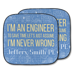 Engineer Quotes Car Sun Shade - Two Piece (Personalized)