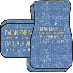 Engineer Quotes Car Floor Mats (Personalized)
