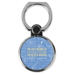 Engineer Quotes Cell Phone Ring Stand & Holder (Personalized)