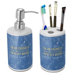Engineer Quotes Ceramic Bathroom Accessories Set (Personalized)