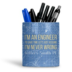 Engineer Quotes Ceramic Pen Holder
