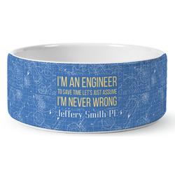 Engineer Quotes Ceramic Pet Bowl (Personalized)
