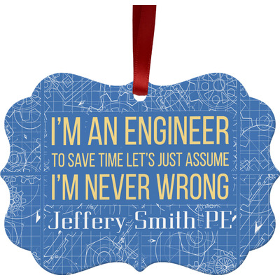 Engineer Quotes Ornament (Personalized)