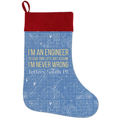 Engineer Quotes Holiday Stocking w/ Name or Text